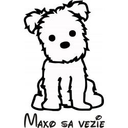 Nálepka na auto - Maltézky psík