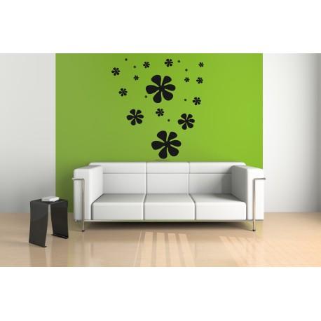 Nálepka na stenu - Kvety plné