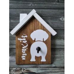 Drevený domček - Držiak na vodítko