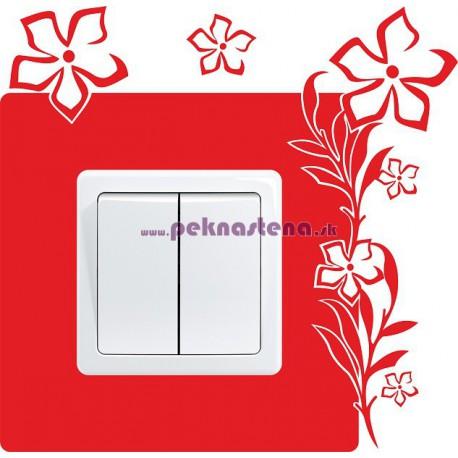 Nálepka pod vypínač - Kvety 3