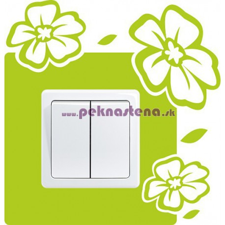Nálepka pod vypínač - Kvety 4
