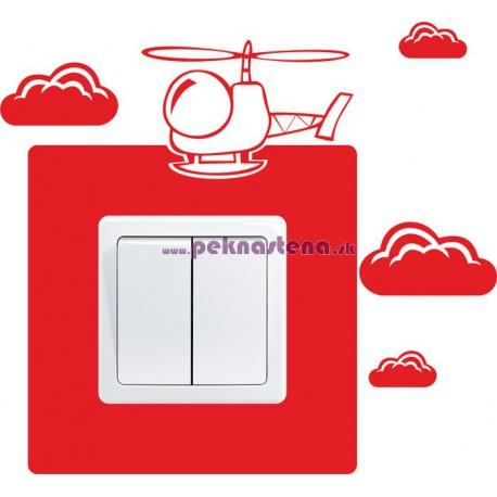 Nálepka pod vypínač - Vrtulník