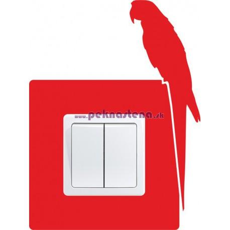 Nálepky pod vypínač - Papagáj