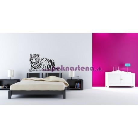 Nálepka na stenu - Ležiaci tiger