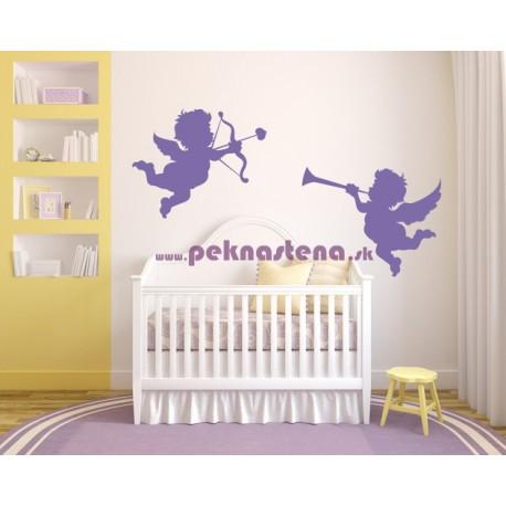 Nálepky na stenu - Anjelikovia - 2 kusy