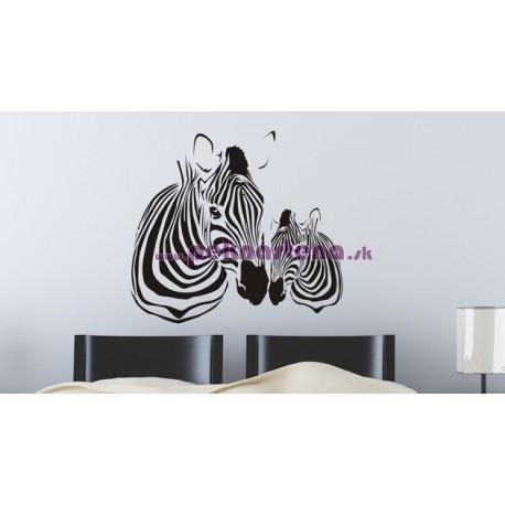 Nálepka na stenu - Zebra s mláďatkom