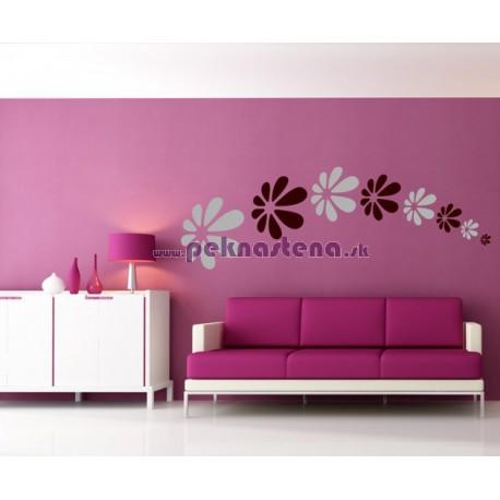 Nálepka na stenu - Letiace kvety