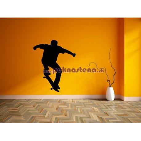 Nálepka na stenu - Skateboardista