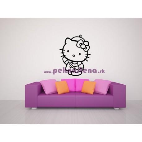 Nálepka na stenu - Hello Kitty