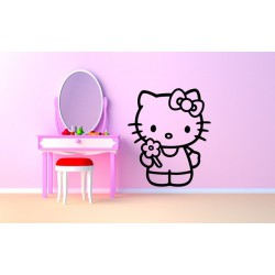 Nálepka na stenu - Hello Kitty 2