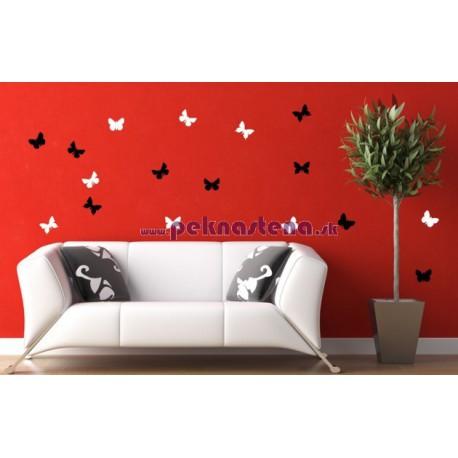 Nálepka na stenu - Motýle - 30 kusov