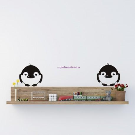Nálepka na stenu - Vrabčeky - 3 kusy