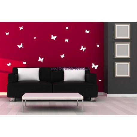 Nálepka na stenu - Motýli kŕdeľ - 60 kusov