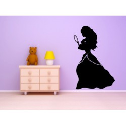 Nálepka na stenu - Princezná so zrkadielkom