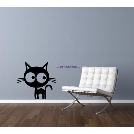 Nálepka na stenu - Mačiatko