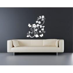 Nálepka na stenu - Ornament s motýľmi
