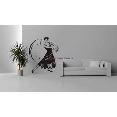 Nálepka na stenu - Španielská tanečnica