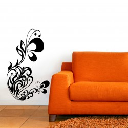 Nálepka na stenu - Motýli ornament