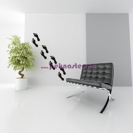 Nálepka na stenu - Odtlačok nohy - 8 ks