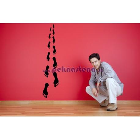 Nálepka na stenu - Odtlačok nohy - 12 kusov