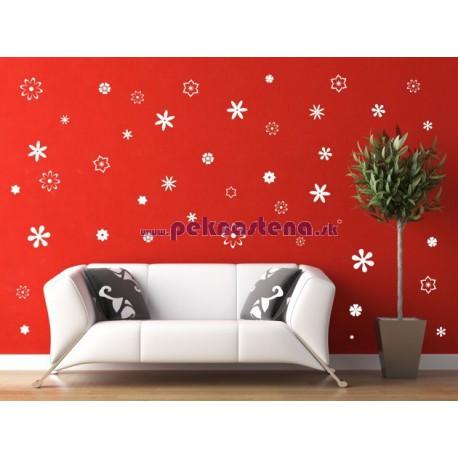 Nálepka na stenu - Kvety - 70 kusov