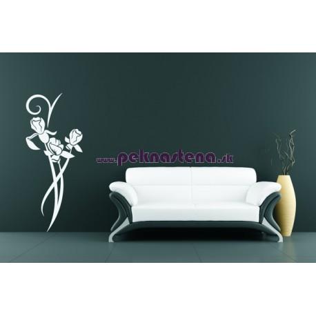 Nálepka na stenu - Kvety