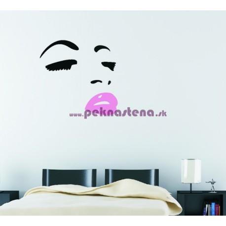 Nálepka na stenu -  Žena - tvár