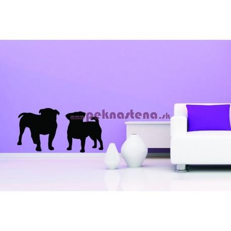 Nálepka na stenu - Silueta psov