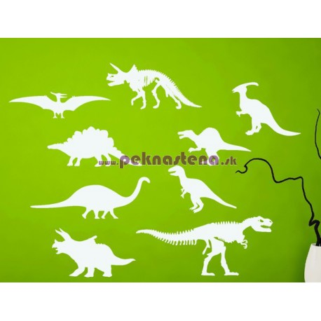 Nálepka na stenu - Dinosaury - set 9 kusov