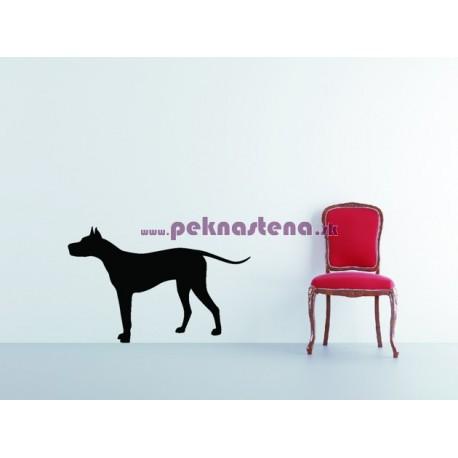 Nálepka na stenu - Silueta psa
