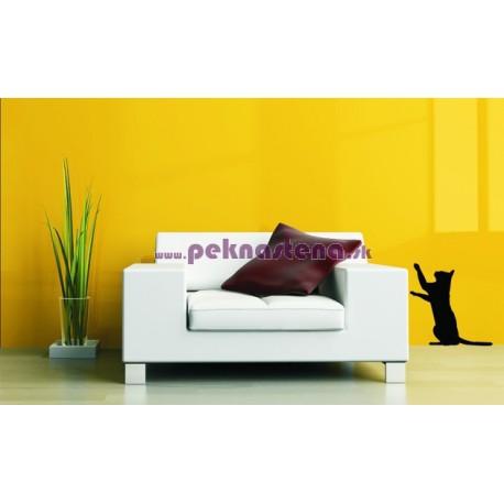 Nálepka na stenu - Mačka 2