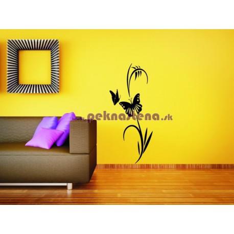 Nálepka na stenu - Motýli kvet