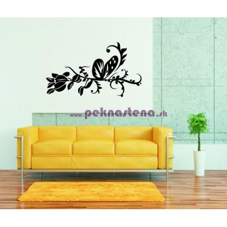 Nálepka na stenu - Motýli ornament 3