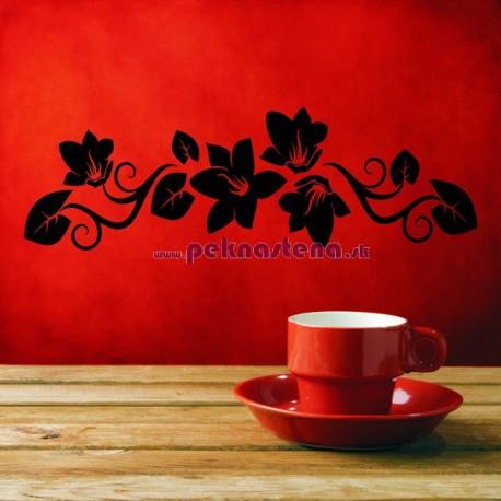 Nálepka na stenu - Kvetový ornament 4