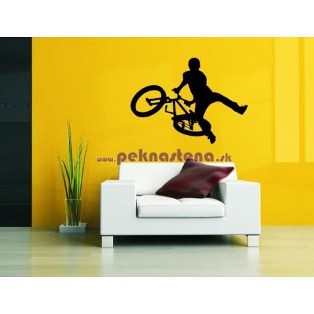 Nálepka na stenu - BMX freestyle