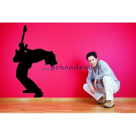 Nálepka na stenu - Rockový gitarista