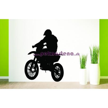 Nálepka na stenu - Motorkár