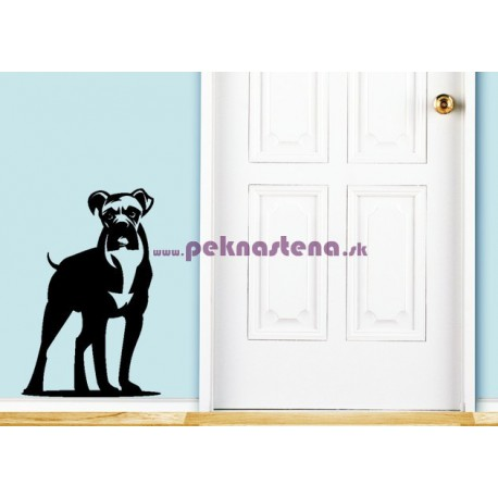 Nálepka na stenu - Silueta psa 2