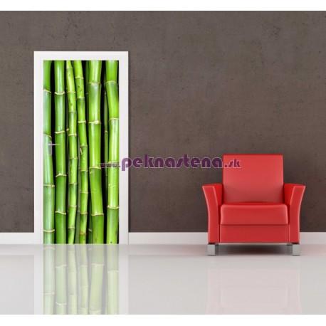 Nálepka na dvere - Bambusové výhonky