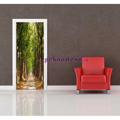 Nálepka na dvere - Cesta lesom