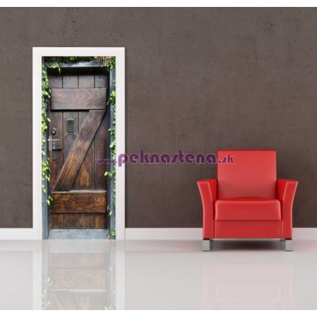 Nálepka na dvere - Drevené dvere