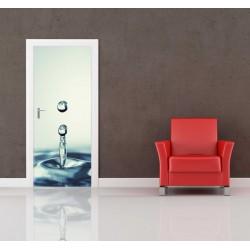 Nálepka na dvere - Kvapky vody