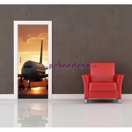 Nálepka na dvere - Lietadlo