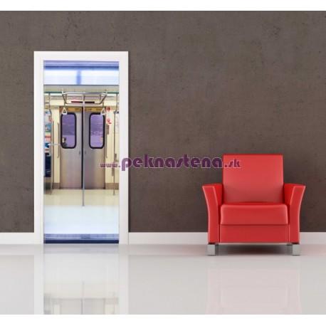 Nálepka na dvere - Metro