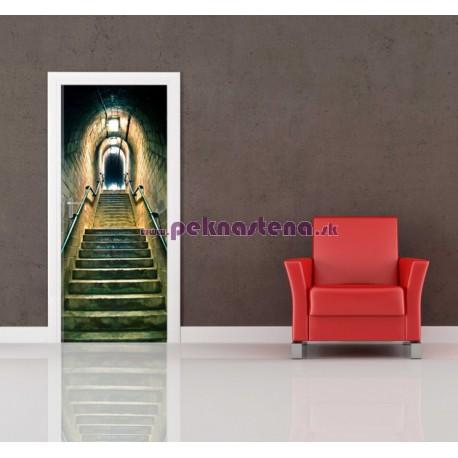 Nálepka na dvere - Schodisko