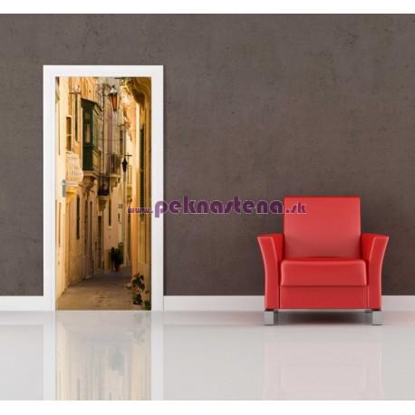 Nálepka na dvere - Ulička