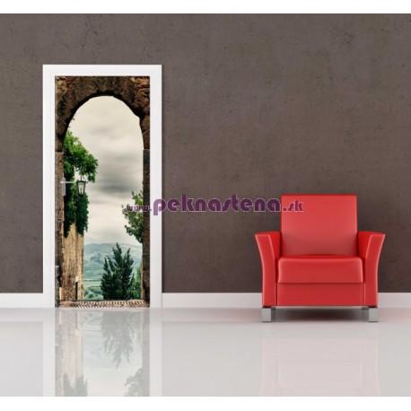 Nálepka na dvere - Výhľad na krajinu