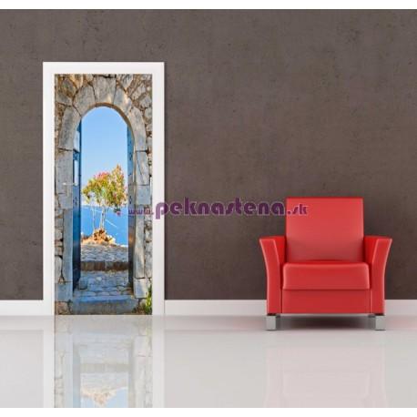 Nálepka na dvere - Výhľad na more