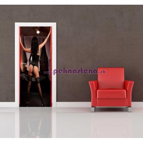 Nálepka na dvere - Zvodná žena