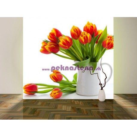 Fototapeta - Červené tulipány
